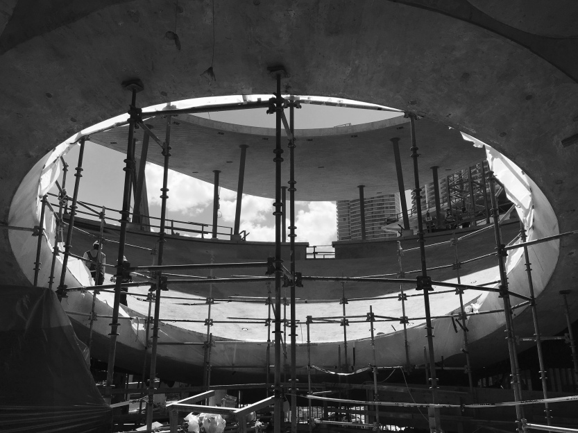 The Living Core Aquarium Waiting for the Oculus (November, 2015)