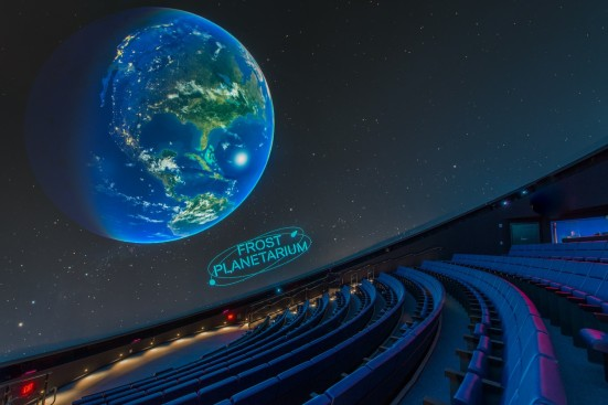 The 250-seat Frost Planetarium was developed from the ground up as a fitting substitute to the beloved Miami Space Transit Planetarium to use 16-million-color 8K projection, surround sound and a vast dome screen to take you on dazzling visual odysseys to outer space.